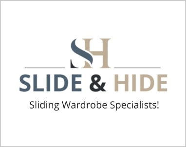 slide and hide logo