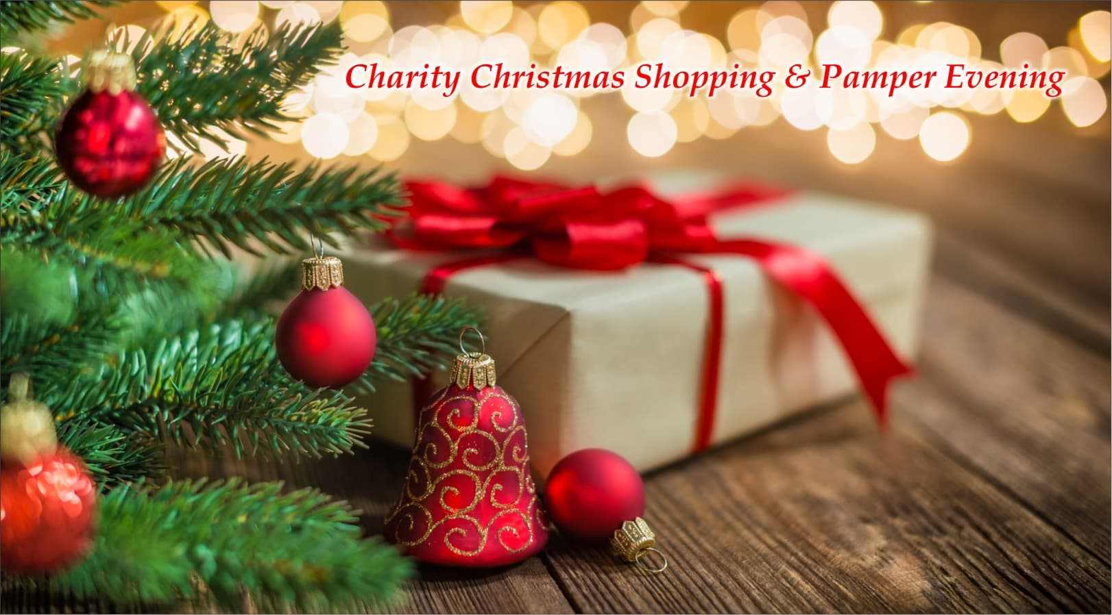 Charity Christmas Shopping & Pamper Evening features image